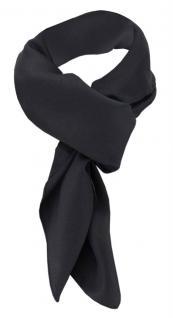 TigerTie Damen Chiffon Halstuch schwarz Uni Gr. 90 cm x 90 cm - Schal