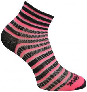 WRIGHTSOCK Sportsocke Coolmesh II neon pink anti-blasen Socken mittellang Gr.L