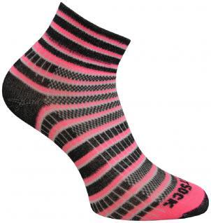 WRIGHTSOCK Sportsocke Coolmesh II neon pink anti-blasen Socken mittellang Gr.M
