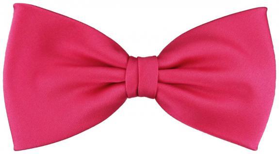 vorgebundene TigerTie Satin Fliege in pink knallpink Uni einfarbig + Geschenkbox