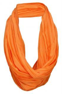 TigerTie Loop Schal orange leuchtorange einfarbig Uni - Schlauchschal Rundschal