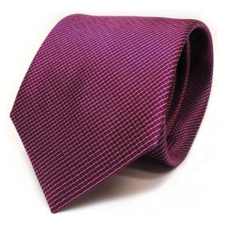 TigerTie Seidenkrawatte magenta silber gestreift - Krawatte Seide Tie