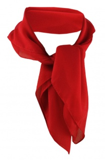 TigerTie Damen Chiffon Nickituch rot Gr. 50 cm x 50 cm - Tuch Halstuch Schal