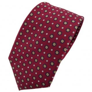 Hennes cologne Designer Seidenkrawatte rot blau gold silber gepunktet - Krawatte