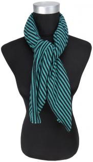 Halstuch in grün schwarz gestreift - Halstüchgröße 90 x 90 cm