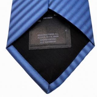 Mexx Seidenkrawatte blau dunkelblau gestreift - Krawatte Seide Silk - Vorschau 5
