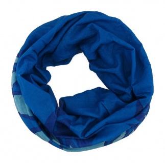TigerTie Multifunktionstuch in blau hellblau Flammen - Tuch Schal Schlauchtuch