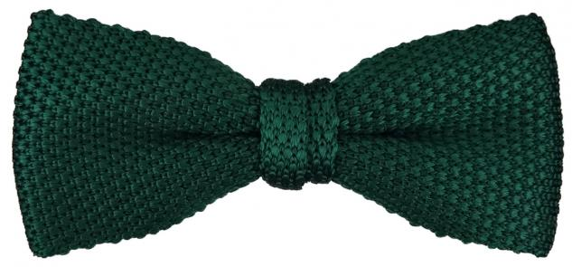 TigerTie Strick Seidenfliege in grün bottle einfarbig Uni - Fliege 100% Seide