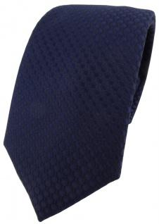 Modische TigerTie Designer Krawatte in marine dunkelblau gepunktet