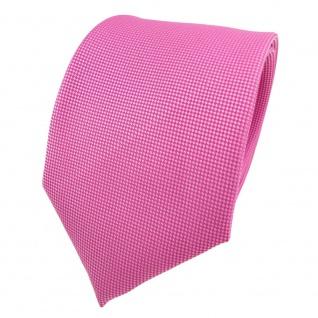 Designer Krawatte pink rosa silber gepunktet - Schlips Binder Tie