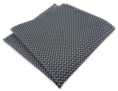 TigerTie Designer Einstecktuch in silber schwarz grau gemustert