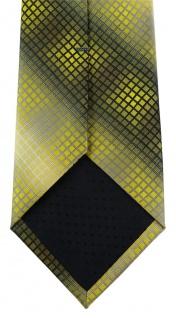 TigerTie Designer Krawatte in gelb gold silber grau schwarz kariert - Vorschau 4