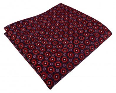 TigerTie Designer Einstecktuch in rot blau silber schwarz gemustert