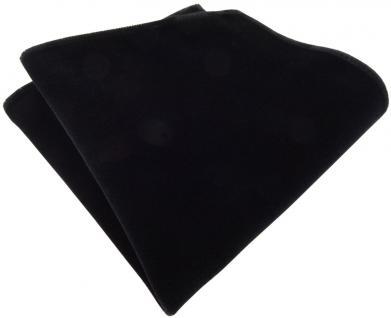 TigerTie Designer Baumwollsamt Einstecktuch in schwarz Uni - 100% Baumwolle