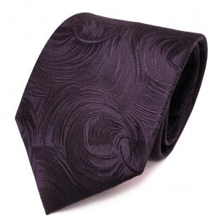 TigerTie Designer Seidenkrawatte lila violett gemustert- Krawatte Seide Tie
