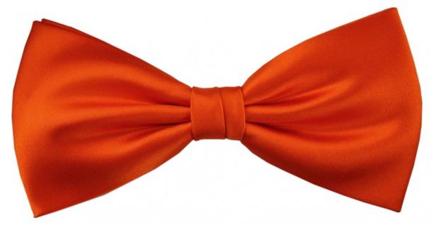 TigerTie Satin Seidenfliege in orange Uni, Fliege 100% reine Seide