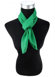 TigerTie Damen Chiffon Halstuch grün knallgrün Uni Gr. 90 cm x 90 cm - Schal