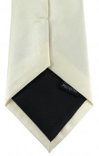 XXL TigerTie Security Sicherheits Krawatte in beige champagner einfarbig Uni - Vorschau 4