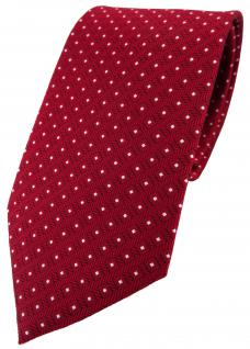 TigerTie Designer Seidenkrawatte rot signalrot silber gepunktet - Krawatte Seide