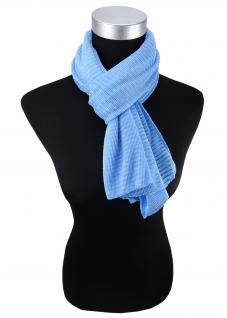 Damen Satin Schal Halstuch blau hellblau gemustert Gr. 155 cm x 55 cm - Tuch