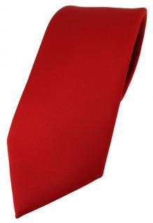TigerTie Designer Krawatte in rot einfarbig Uni - Tie Schlips
