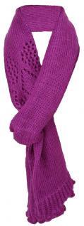 Winterschal Strickschal in magenta pink einfarbig - Schal Größe 220 x 40 cm
