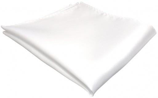 TigerTie Einstecktuch in weiss einfarbig Uni - Tuch Polyester - Größe 26 x 26 cm