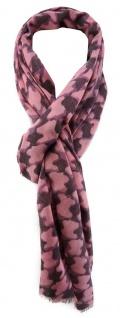 TigerTie Designer Schal in altrosa lila gemustert - Größe 180 x 40 cm