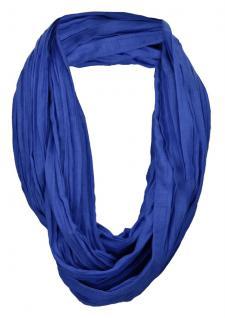 TigerTie Loop Schal in blau royalblau einfarbig Uni - Schlauchschal Rundschal