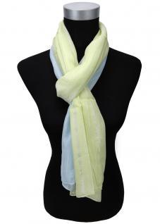 Schal in grün blau silber gestreift Glitzerfäden - Gr. 180 x 50 cm - Halstuch