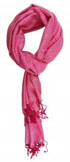 TigerTie Designer Schal in pink rosa silber gemustert - Gr. 180 x 50 cm
