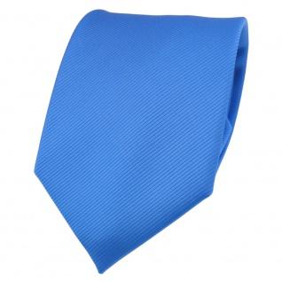 TigerTie Designer Krawatte blau himmelblau hellblau Uni Rips - Binder Tie