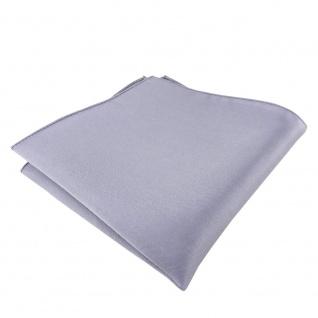 Seideneinstecktuch silber einfarbig - Einstecktuch 100% Seide - Gr. 25 x 25 cm