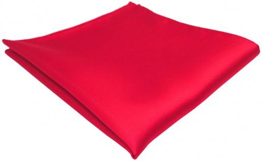 TigerTie Einstecktuch in rot einfarbig Uni - Tuch Polyester - Größe 26 x 26 cm