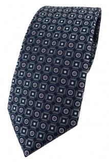 TigerTie Designer Krawatte in anthrazit rosa silber schwarz gemustert