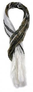 TigerTie Schal in braun schwarz weiss grau gemustert - Gr. 180 x 50 cm