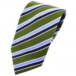 TigerTie Krawatte grün blau dunkelblau silber gestreift - Tie Binder