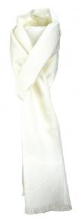 TigerTie Unisex Schal Pique in creme uni gemustert - Größe 180 x 28 cm