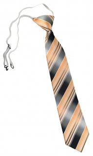TigerTie Security Sicherheits Krawatte in lachs orange silber grau gestreift