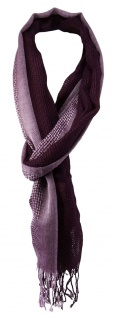 TigerTie Designer Schal in rosa silber bordeauxviolett gemustert - 180 x 50 cm