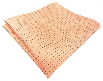 TigerTie Designer Seideneinstecktuch in orange lachs gepunktet