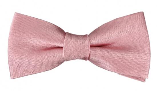 TigerTie Kleinkinder Baby Seidenfliege in rosa mit Gummizug - Fliege 100% Seide