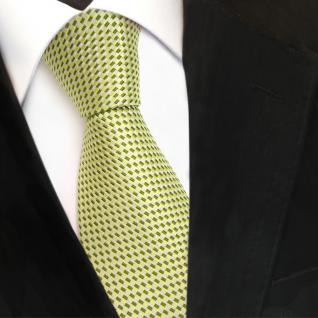 Designer Seidenkrawatte grün hellgrün silber gemustert - Krawatte Seide Silk