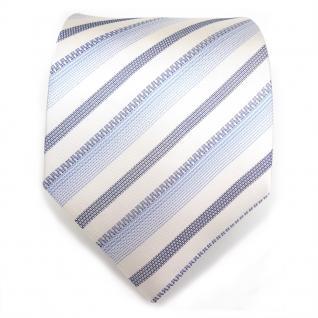 Mexx Seidenkrawatte in blau weiss grau gestreift - Tie Krawatte 100% Seide - Vorschau 2
