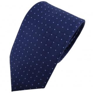 TigerTie Designer Krawatte blau dunkelblau hellblau gepunktet - Schlips Tie