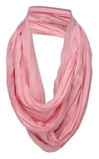 TigerTie Loop Schal in rosa einfarbig Uni - Schlauchschal Rundschal
