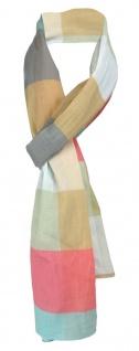 Schal in braun türkis rose grau beige lila grün Karo gemustert - Gr.180 x 70 cm