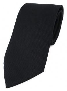 TigerTie Designer Krawatte Pique in schwarz gemustert - 100% Baumwolle