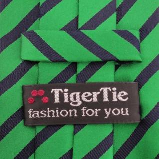 TigerTie - Service o. Security Clip Seidenkrawatte smaragdgrün schwarz gestreift - Vorschau 5