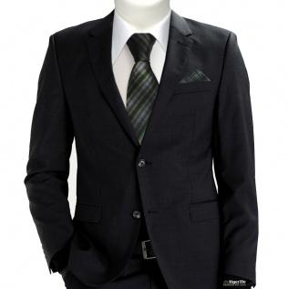 TigerTie Designer Seidenkrawatte in grün anthrazit grau schwarz gemustert